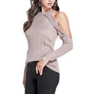Guess cold shoulder love sleeve size medium NWT